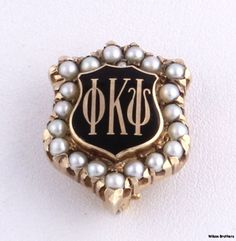 Phi Kappa Psi - 10k Yellow Gold Pearls fraternity Vintage Greek Sweetheart PIN | eBay