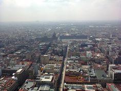 """""""Zócalo de la ciudad de México,  desde el mirador de la Torre Latinoamericana"""""""