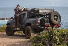 Geared up and prepared for whatever lies ahead! Photo @pitcairnoverland #deadmansaves www.DeadmanOffroad.com Overland Tacoma, Overland Truck, New Tacoma, Tacoma Truck, Van Conversion Campervan, Holden Colorado, Toyota Tacoma Trd Pro, Off Road Adventure, Toyota Trucks
