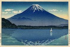 Mt. Fuji from Shojiko Lake.  Tsuchiya Koitsu.