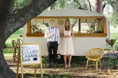 Wedding Trends in 2015 & 2016 - create a WOW factor for your wedding in Bali - how cool is that caravan bar?