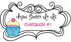 It's a Giveaway Over at Table Talk With C and C!