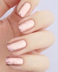 Nail art is a very popular trend these days and every woman you meet seems to have beautiful nails. It used to be that women would just go get a manicure or pedicure to get their nails trimmed and shaped with just a few coats of plain nail polish. Bridal Nails Designs, Wedding Nails Design, Pink Nail Designs, Pink Wedding Nails, Wedding Pedicure, Elegant Nail Designs, Rose Gold Nail Design, Weddig Nails, Bridesmaid Nails Pink