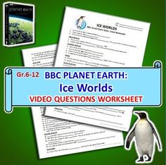 planet earth ice worlds video quiz editable planet earth first page and quizes. Black Bedroom Furniture Sets. Home Design Ideas