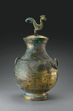 Wine Container (Hu) with Mythical Bird | China | Western Han dynasty (206 B.C.–A.D. 9) | The Met