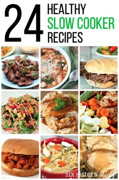 24 Healthy Slow Cooker Recipes from SixSistersStuff