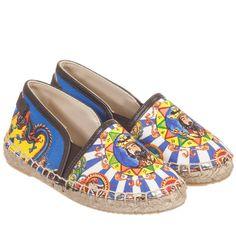 Dolce & Gabbana Blue 'Chinese Palace' Espadrille Shoes at Childrensalon.com 135£