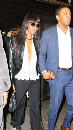 Model style: Naomi Campbell kept her 46th birthday celebrations going as she…