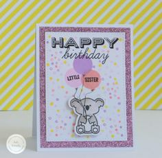 Created by design team member Kate Kennedy with Sweet Stamp Shop Koala Family stamp set Available in Australia at www.dawnlewis.com.au #sweetstampshop #koala