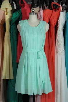 Party Dress 2014 Mint Chiffon Prom Dress by harsuccthing on Etsy
