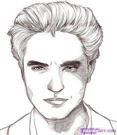 Edward Cullen Edward Cullen Robert Pattinson Twilight Coloring Pages Twilight Painting Robert Pattinson Twilight Vampire Drawings