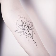 Image result for water lily tattoo geometric