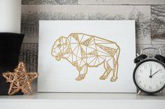 Silhouette America Blog | Geometric Buffalo Art : Free Design of the Week