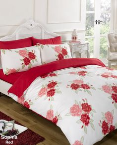 Designed by DEBORAH WILLMINGTON DESIGNS - 6PC Duvet Complete Bedding Set Extra Pillowcases & Fitted Sheet - Sophia: Amazon.co.uk: Kitchen & Home