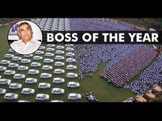 Diwali Bonus | Happy diwali Surat Diamond man Gifted 1260 Cars & 400 Flats To His Employees - YouTube