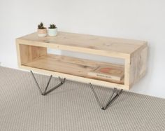 Emily Reclaimed Wood TV Stand TV Cabinet Hairpin Legs