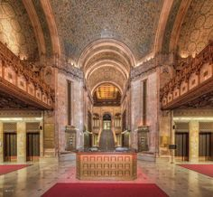 The Woolworth Building's lobby, a New York City Landmark, opened in 1913.