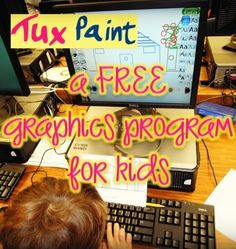 I've been using a fun new graphics program in the computer lab.   It's called Tux Paint, and the best thing is....it's FREE!           Fir...