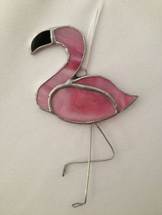 Stained Glass Christmas Ornament: Pink Flamingo by Mama Agee on Etsy, $10.00