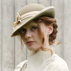 Women Tilt Hat 1930's Vintage Style in Sage by GreenTrunkDesigns, $120.00