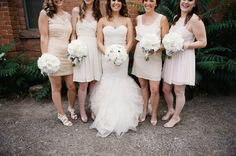 Bridesmaids colors and white bouquet...Style Me Pretty | Gallery | Picture | #682651