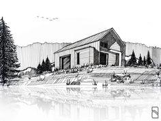 "158 Likes, 3 Comments - ABSV Dastan (@absvdsgn) on Instagram: ""The lake house sketch. . ______________________________ . #sketch #sketchbook #sketchlove…"""