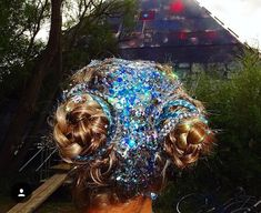 Glitter roots and buns