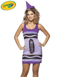 Adult Crayola Crayon Costume Dress -YES. I want this this year.  sc 1 st  Pinterest & 7 best Crayon costume images on Pinterest | Crayon costume Adult ...