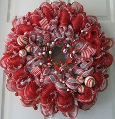 Christmas Wreath Wreath Welcome the Holidays by PJCreativeWreaths, $65.00