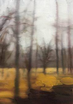 "Saatchi Art Artist Peter Roux; Painting, ""winter drive sketches no.3"" #art"