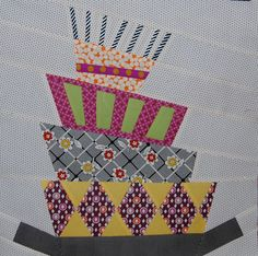 Interesting....thinking outside the box. Wonky cake block, perfect for an unbirthday quilt!  :-D