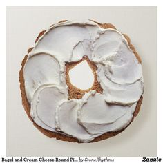 Shop Bagel and Cream Cheese Round Pillow created by StoneRhythms. Smoothie Prep, Raspberry Smoothie, Apple Smoothies, Protien Mug Cake, Shortbread Cake, Cinnamon Raisin Bagel, Food Pillows, Cream Cheese Recipes, Round Pillow