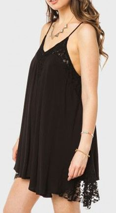 Lace Whisper Dress in Black