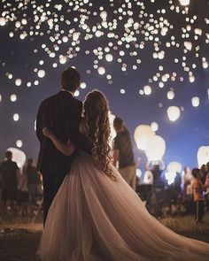 Bride and Groom - Lit Up Sky -  @heybride ...
