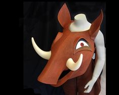 Pumbaa the Warthog costume mask. For children aged 10 and above, teens and adults. Need it fast? Message me.  * For Lion King and Lion King Jr * Child and adult sizes * Ships fast, worldwide * Made from foam and plastic * Matching costume available * Lightweight, robust construction * Handmade by Tentacle Studio in Amsterdam. So… theyve landed a great part in the Lion King, its all excitement and fun. But whats that? You have to provide a handmade costume… of a warthog??!! Aaargh…even if you…