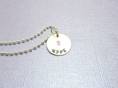 Hope Hand Stamped Brass Necklace by EnchantedObjects on Etsy, $15.00