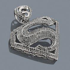 75 best bangin hip hop jewelry images on pinterest hiphop bling 14k black diamond superman pendant 552ct hip hop aloadofball Choice Image
