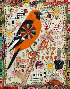 The Mysteries of Juarez by Tony Fitzpatrick Digital Illustration, Graphic Illustration, Illustration Artists, Tony Fitzpatrick, Weird Art, Strange Art, Chicago Artists, Bird Artwork, Collage Art