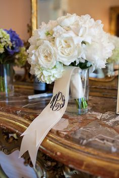 Pretty to personalize a bouquet for a  wedding or to celebrate a special day in style
