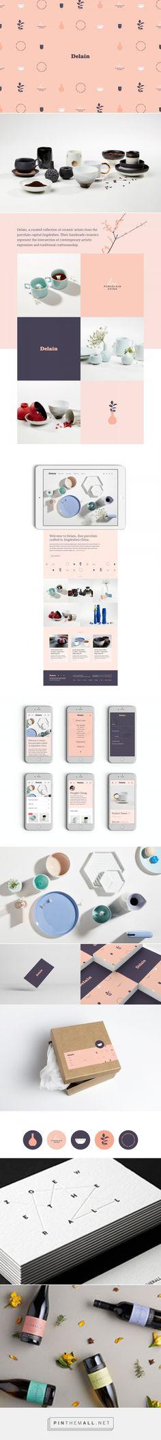 Delain Porcelain Branding on Behance - created via https://pinthemall.net