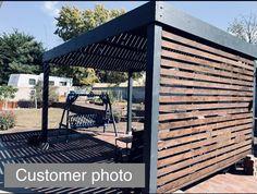 Modern Pergola Designs, Modern Gazebo, Modern Deck, Backyard Patio Designs, Backyard Projects, Backyard Landscaping, Modern Backyard Design, Outdoor Pergola, Pergola Plans