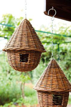 Casa de pájaros en mimbre  -  Birdhouse