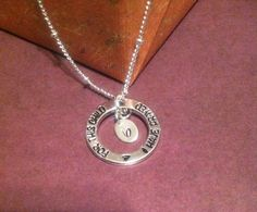 New baby necklace with initial