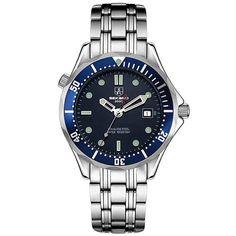SEKARO Switzerland watches men luxury brand automatic mechanical watch military waterproof luminous James Bond 007 watches blue #Affiliate