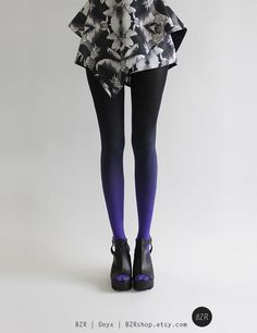 c9c9b082c47 BZR Ombré tights in Onyx Size Medium. It may take up to 3 weeks to