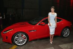 Miranda Kerr was on hand to celebrate the global debut of the 2015 Jaguar F-TYPE R Coupe More in Curio Cabinet http://evetalkonline.com/category/curio-cabinet/  Share if you like