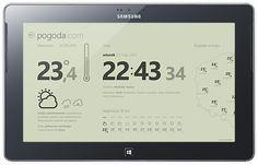 Weather, Windows 8 UI mobile application by Michal Galubinski, via Behance
