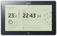 Weather, Windows 8 UI mobile application by Michal Galubinski, via Behance