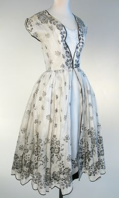 1954 Norman Hartnell dress.