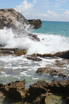 Crashing waves in Labadee.